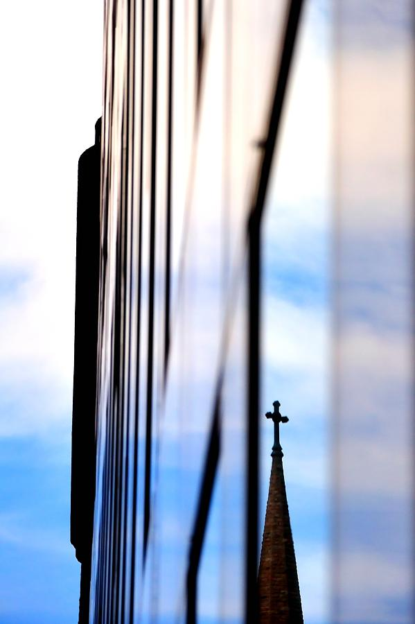 Reflect Photograph - Cross Spire 5077 by Jerry Sodorff
