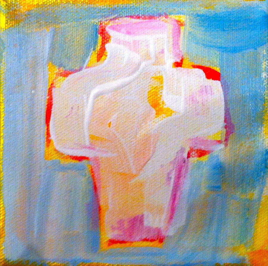 Cross Painting - Cross by Sue Scoggins