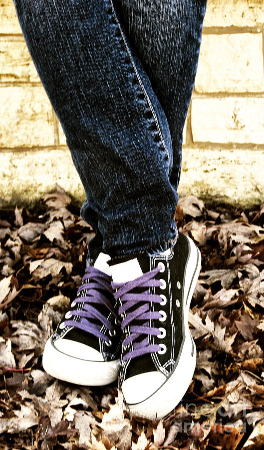 Teen Photograph - Crossed Feet Of Teen Girl by Birgit Tyrrell