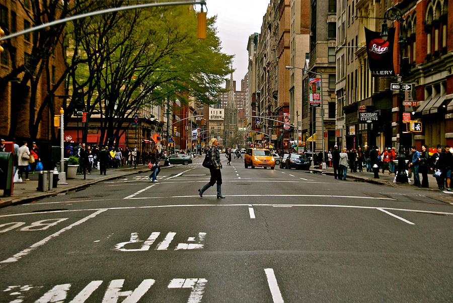 Broadway Photograph - Crossing Broadway by Gino Inocentes