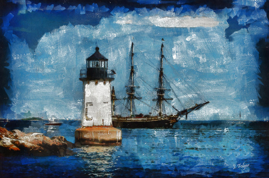 Salem Photograph - Crossing Into The Harbor by Jeff Folger