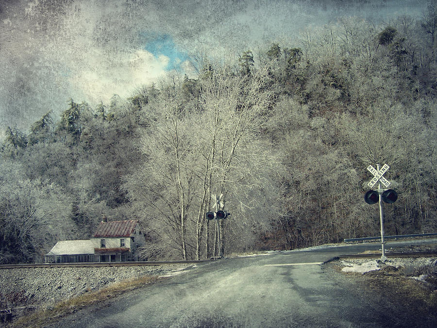 Winter Photograph - Crossing Into Winter by Kathy Jennings