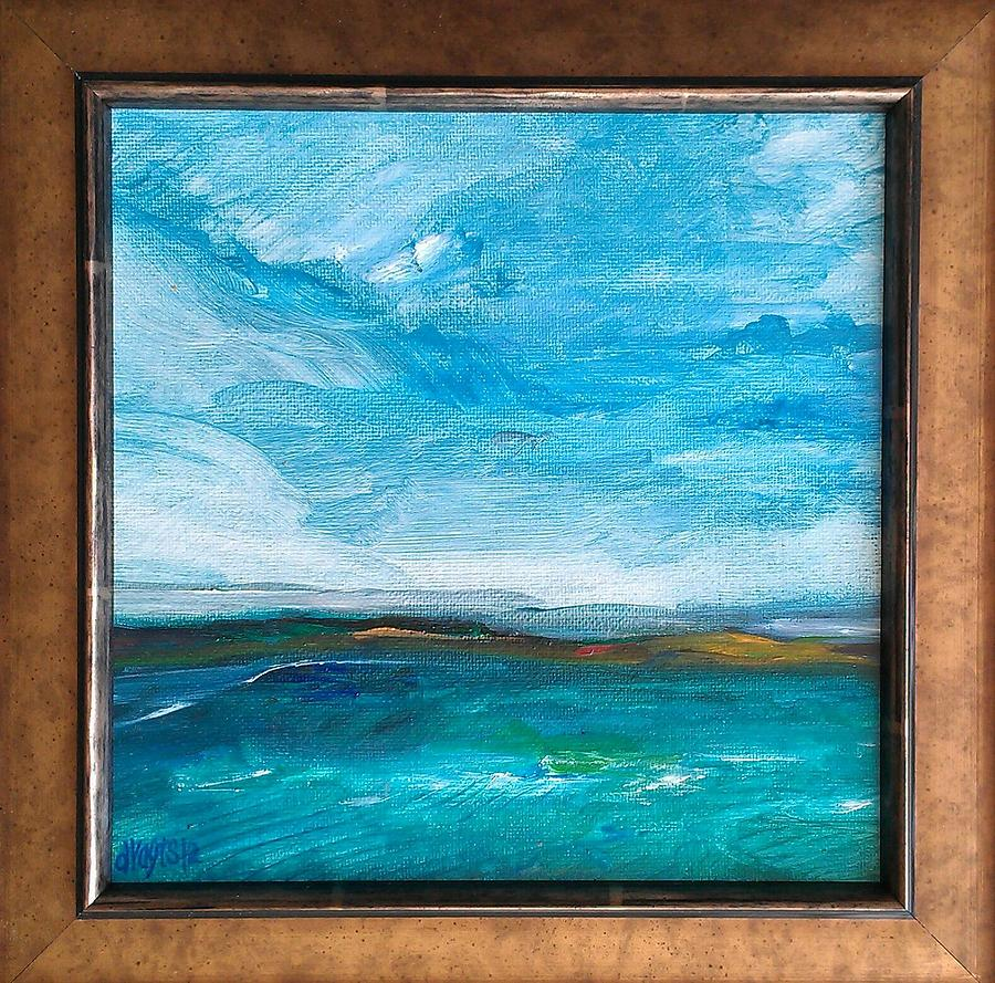 Oil Abstract Painting - Crossing Lac Seul by Dawn Vagts