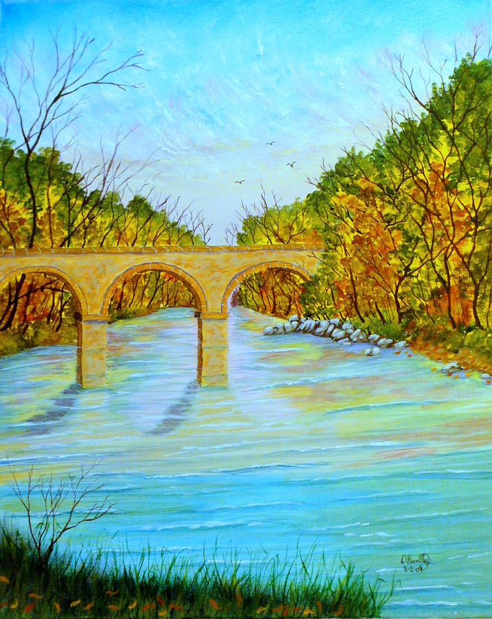 Landscape Painting - Crossing Over by David Bentley