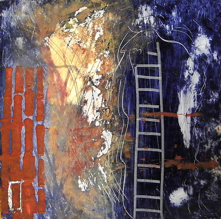 Abstract Painting - Crossing Over by Sue McElligott