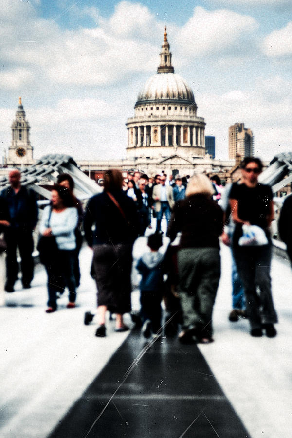 London Photograph - Crossing Over The Thames by Mark E Tisdale