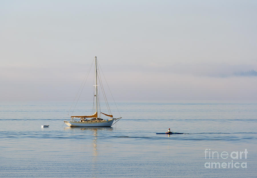 Sailboat Photograph - Crossing Paths by Mike  Dawson