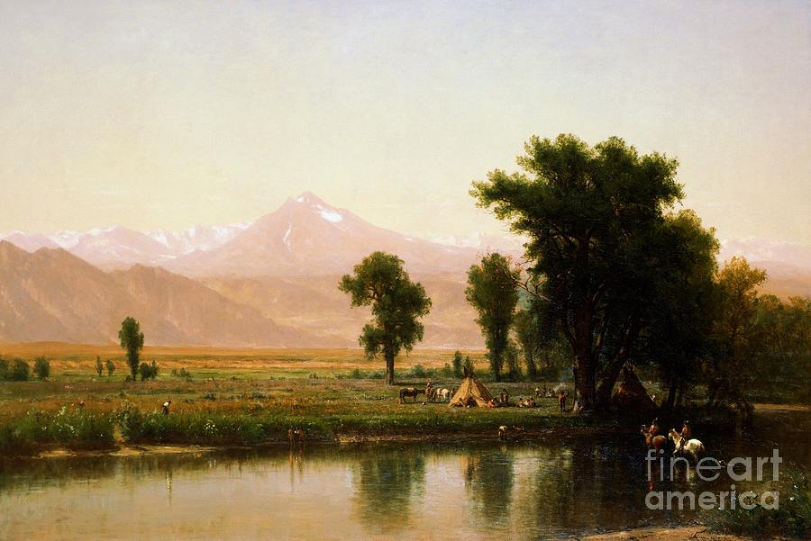 Us Pd:  Reproduction Painting - Crossing The River Platte by Pg Reproductions