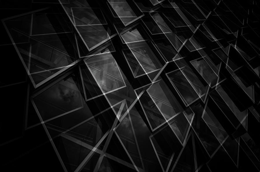 Architecture Photograph - Crossing Windows by Jeroen Van De