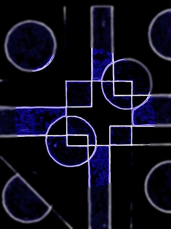Cool Digital Art - Crossroads by Art Speakman