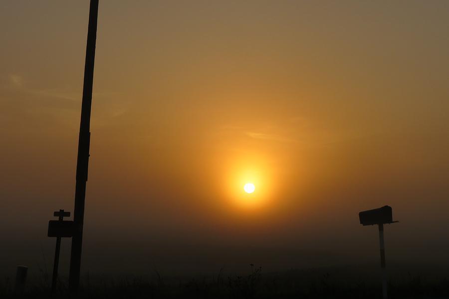 Sunrise Photograph - Crossroads by David  Norman