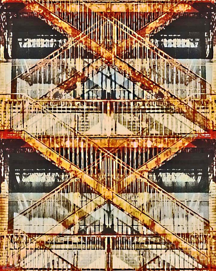 Digital Digital Art - Crosstown Fire Escape by Lizi Beard-Ward