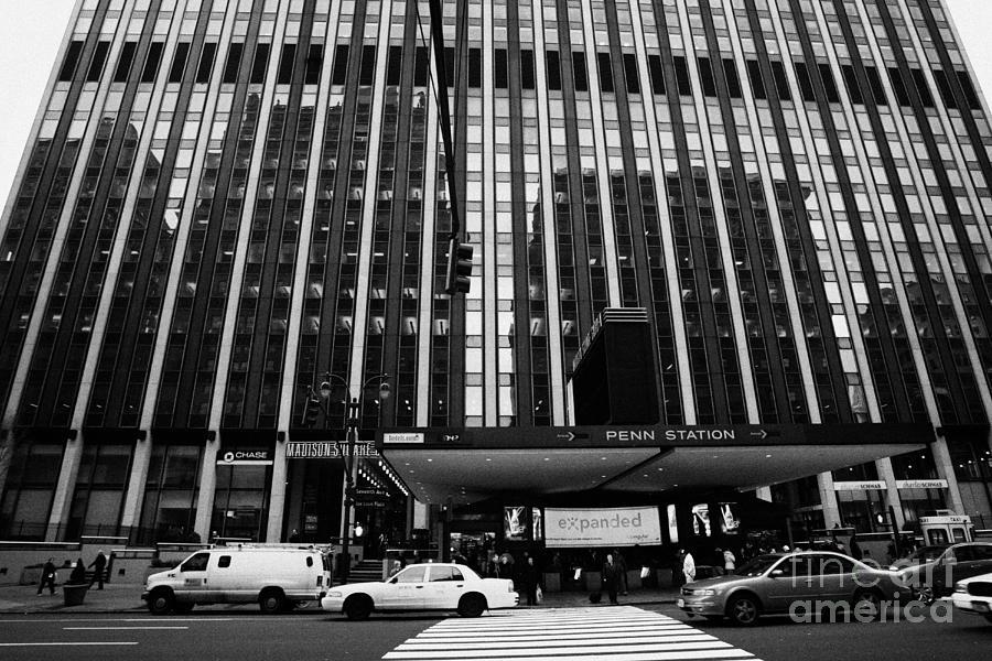 Usa Photograph - Crosswalk Leading To Penn Station And Madison Square Garden Seventh Avenue New York City by Joe Fox