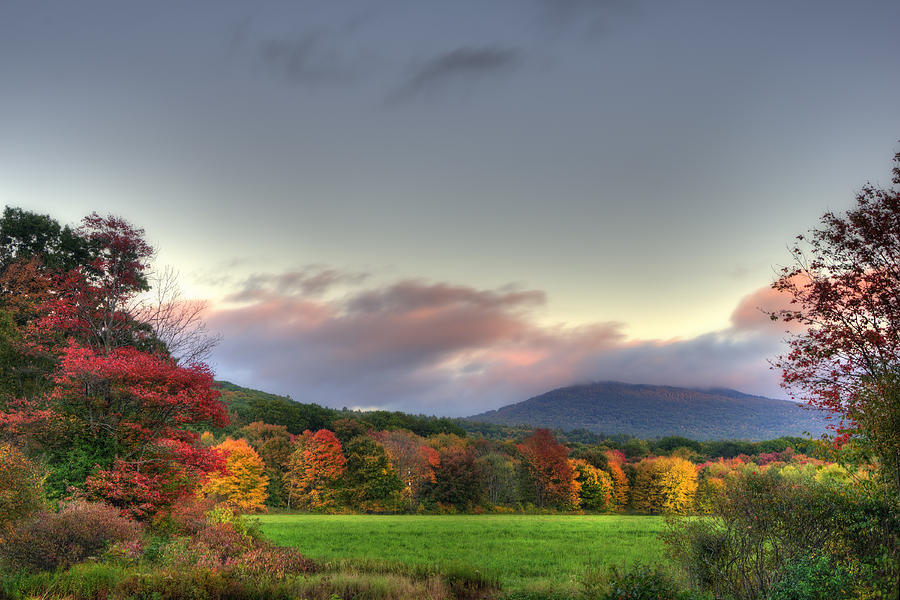 Crotched Mountain Photograph - Crotched Mountain Autumn Sunset by Joann Vitali
