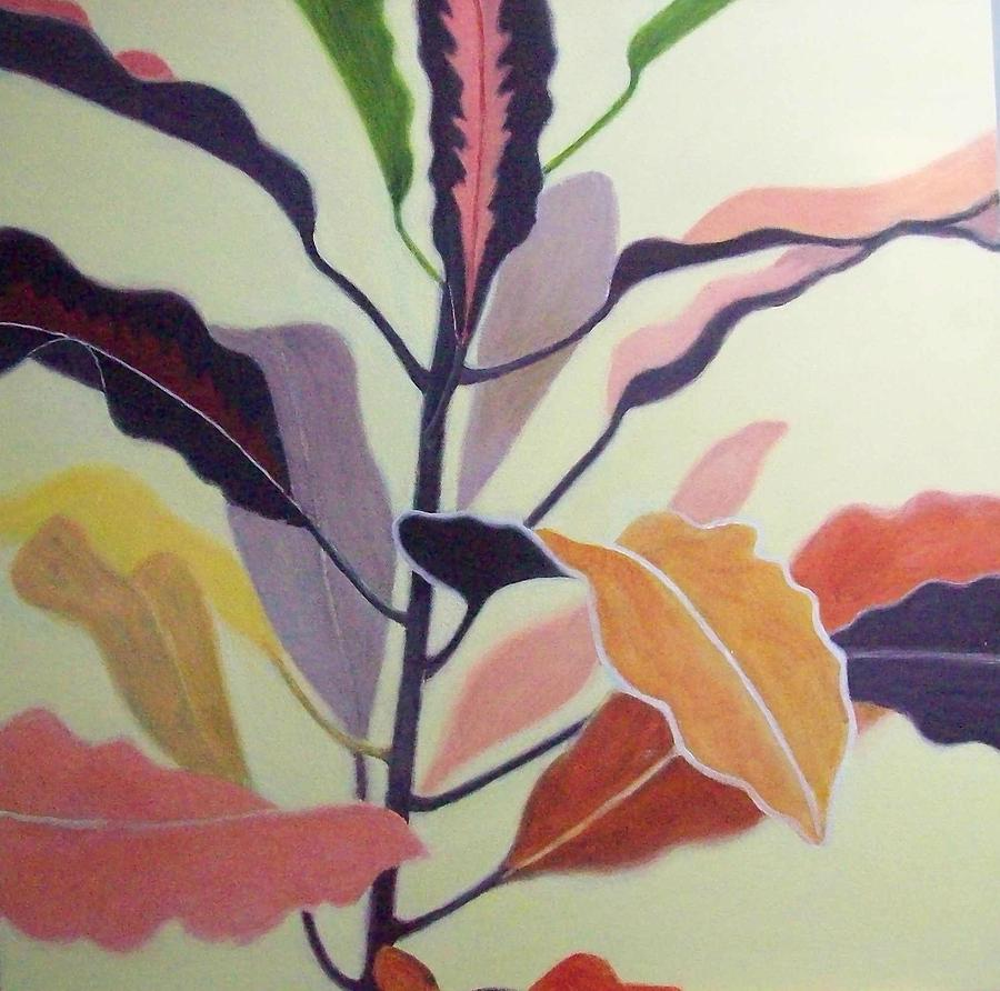 Plant Painting - Croton by Mary Adam