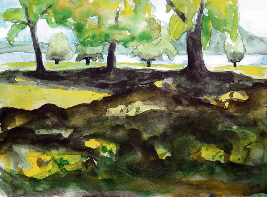 Park Painting - Croton Point Park by Valerie Lynch