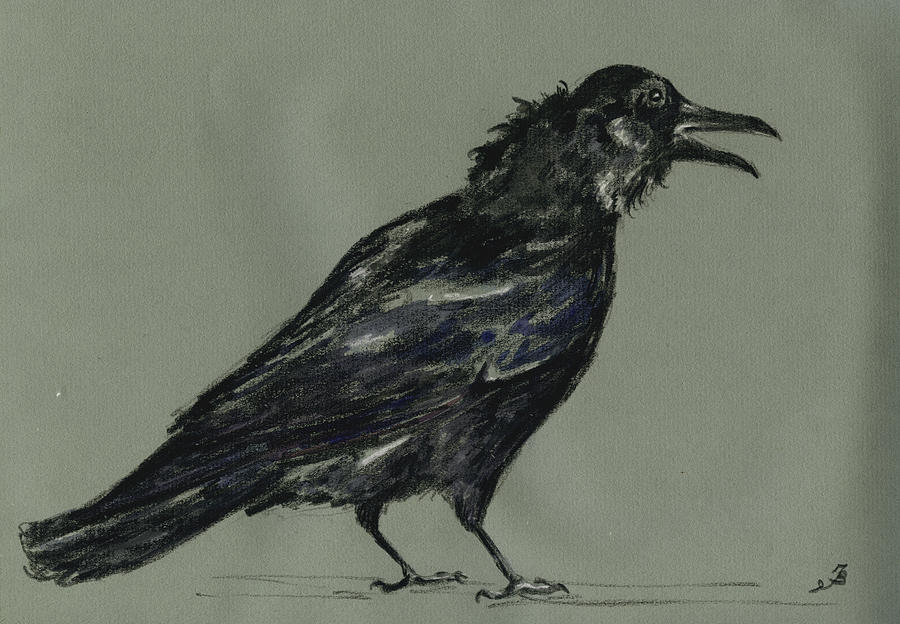 Crow Painting - Crow by Juan  Bosco