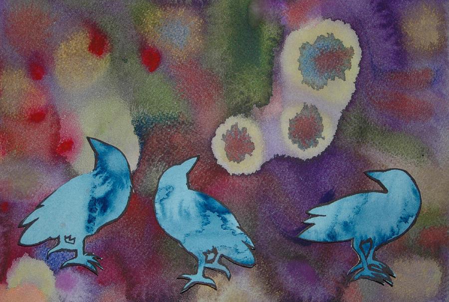 Crow Painting - Crow Series 6 by Helen Klebesadel