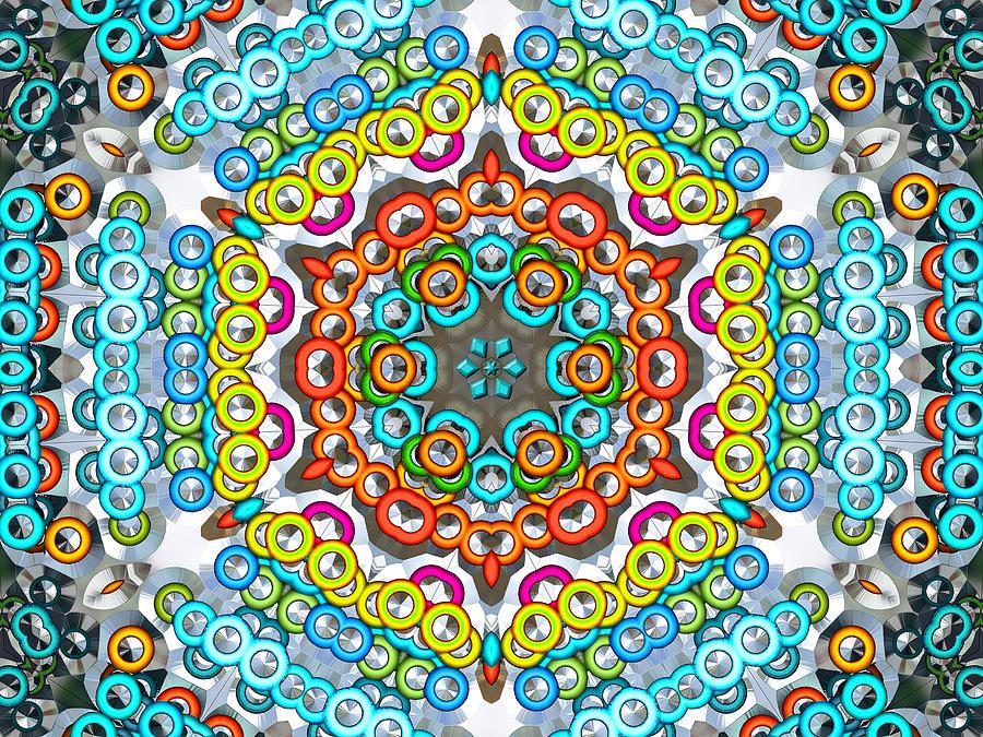 Kaleidoscope Digital Art - Crowd Scene by Wendy J St Christopher