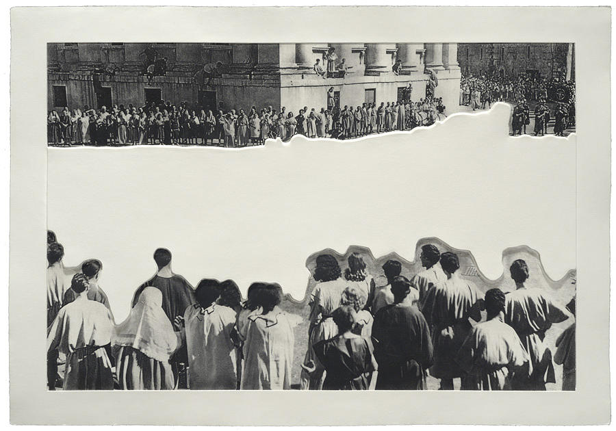 Relief - Crowds With Shape Of Reason Missing  Example Four by John Baldessari