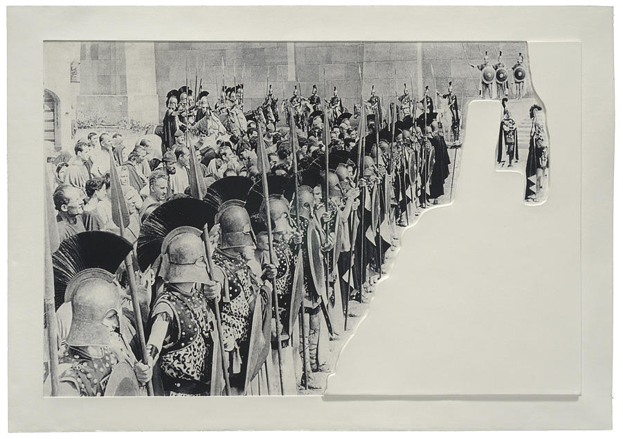 Crowds With Shape Of Reason Missing Example Six Relief by John Baldessari