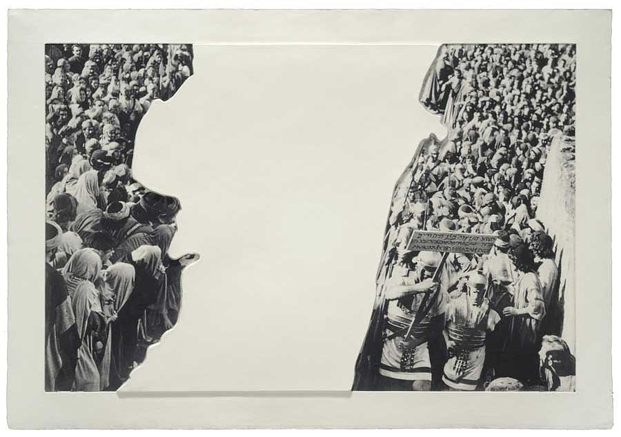 Crowds With Shape Of Reason Missing Example Three Relief by John Baldessari