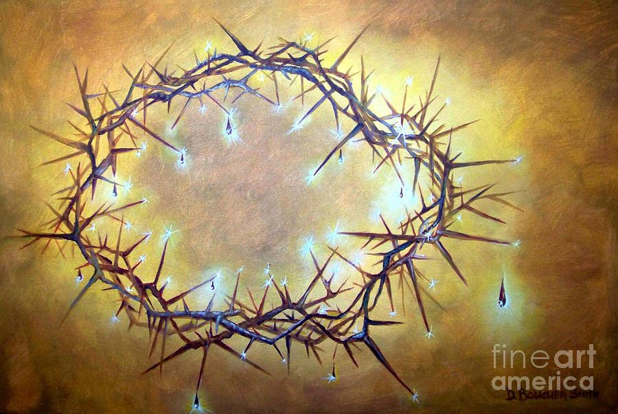 Crown Of Thorns Painting - Crown Jewels by Deborah Smith