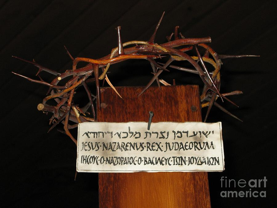 Crucifixion Photograph - Crowned by Ann Horn