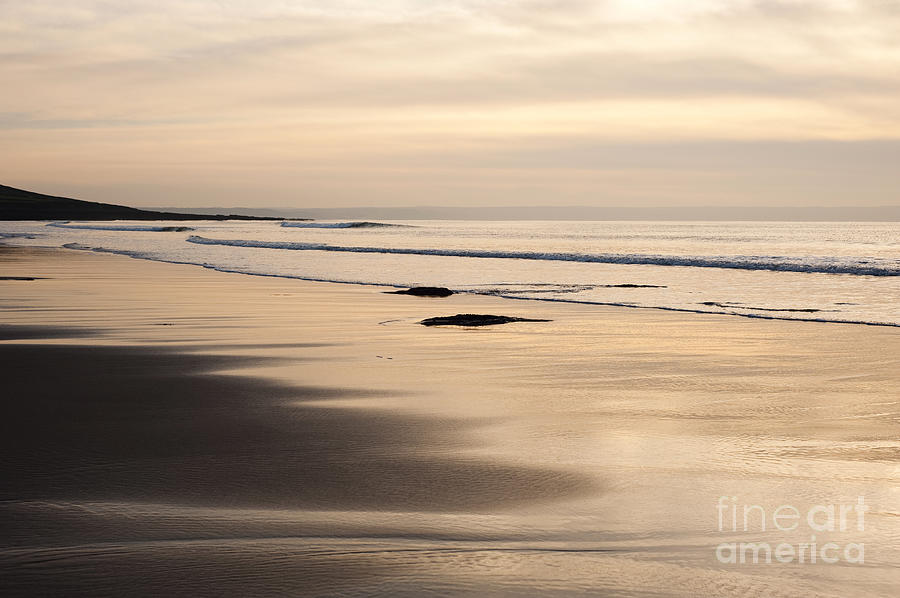 Anne Photograph - Croyde At Dusk by Anne Gilbert