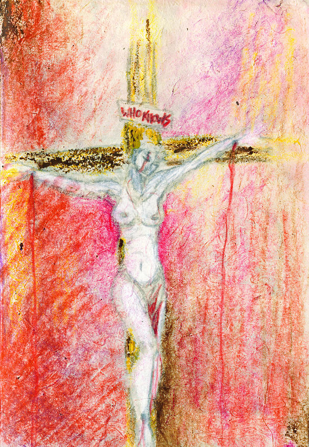 Crucified Drawing - Crucified  by Kd Neeley
