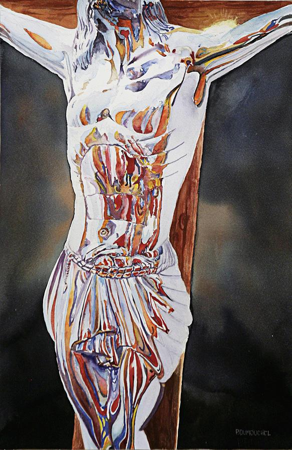 Crucifix Painting - Crucifijo En Plata by Patrick DuMouchel