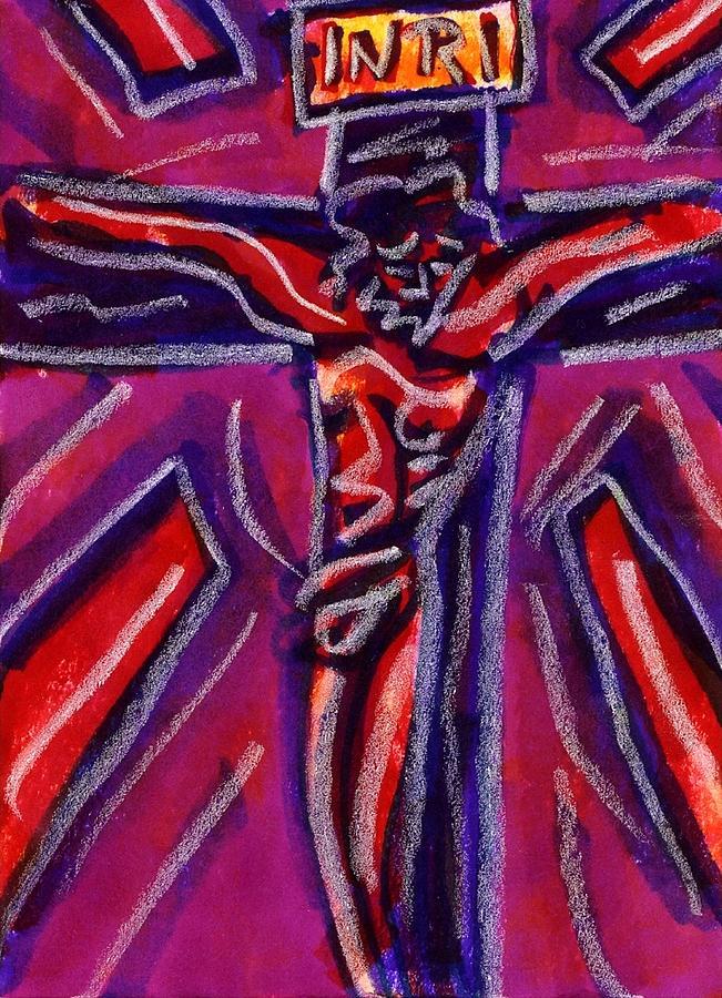 Crucifixion Drawing - Crucifixion II by Rachel Scott
