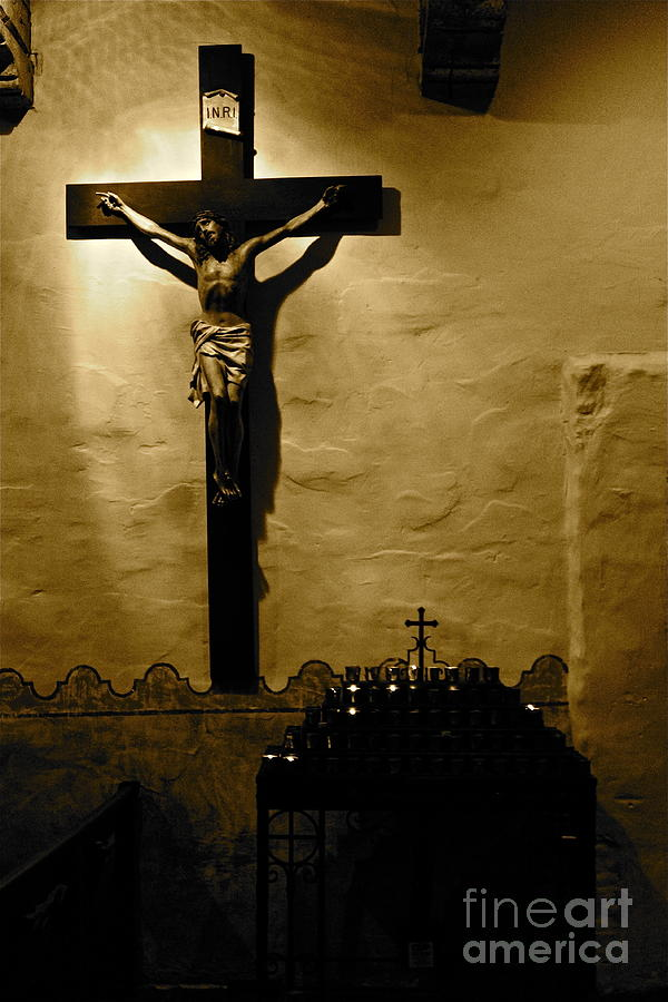 Christ Photograph - Crucifixion by Lori Leigh