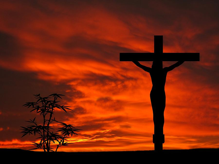 Crucifixion Sunset Silhouette Series Photograph by David Dehner