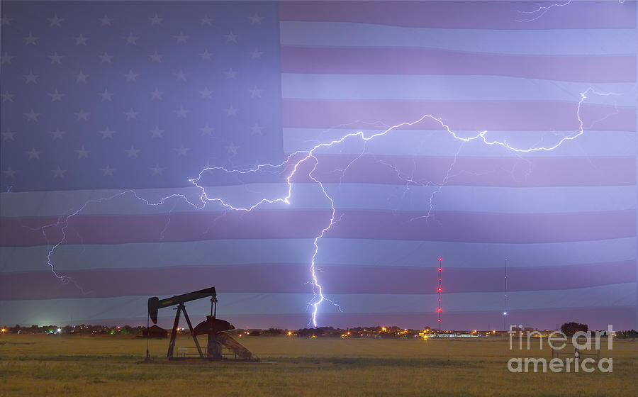 Lightning Photograph - Crude Oil And Natural Gas Striking Across America by James BO  Insogna