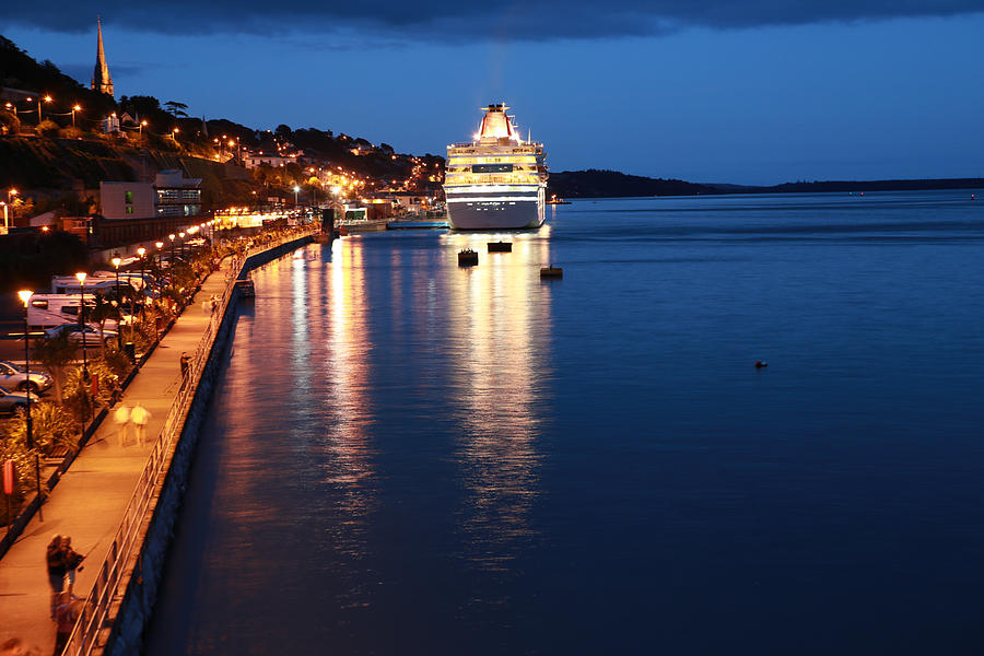 Waterscape Photograph - Cruise Liner At Cobh Harbour by Maeve O Connell