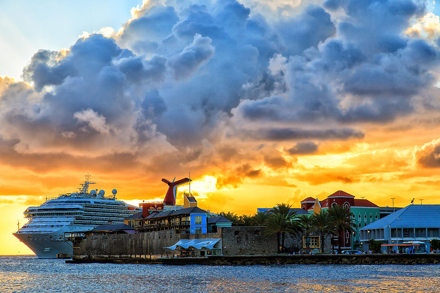 Cruise Ship Sunset by Stephen Kennedy