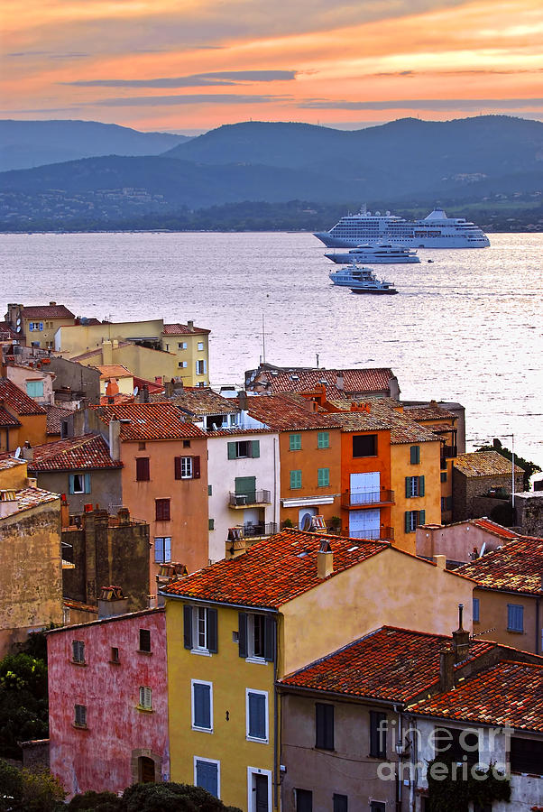 Tropez Photograph - Cruise Ships At St.tropez by Elena Elisseeva
