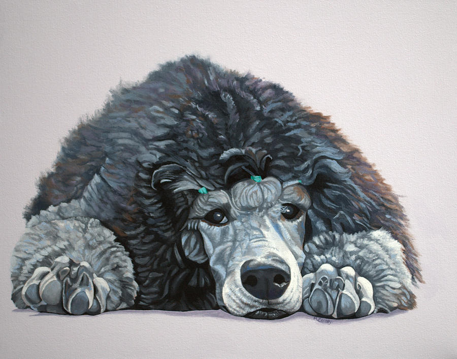 Cruise The Standard Poodle by Melanie Cossey