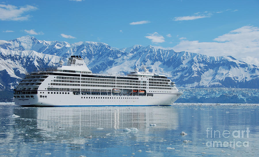 Cruise Ship Photograph - Cruisin At Hubbard Glacier by Camilla Brattemark