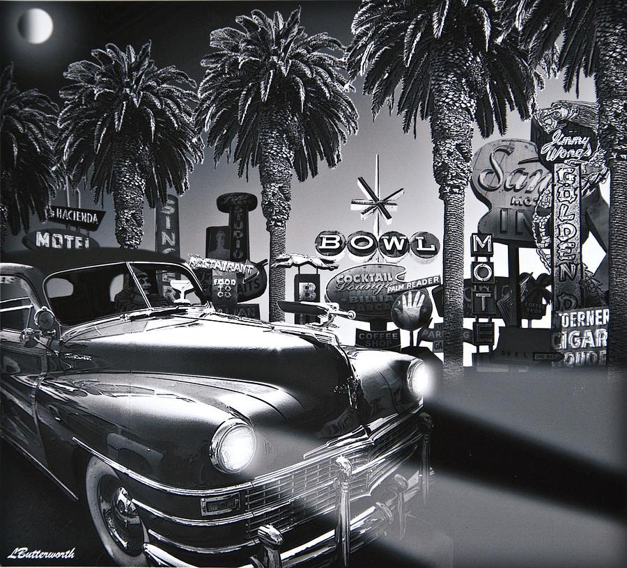 Transportation Digital Art - Cruising In The Garden Of Earthly Delights by Larry Butterworth