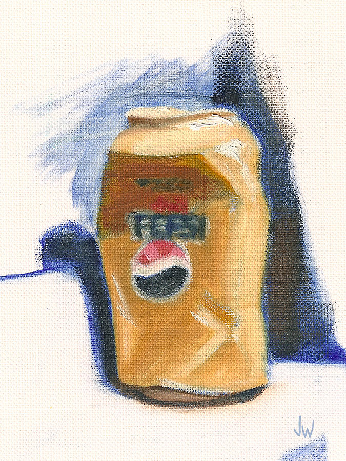 Pepsi Can Painting - Crushed Can by Joe Winkler
