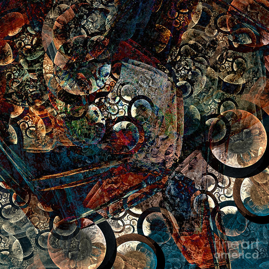 Crushed Digital Art - Crushed Spirals by Klara Acel