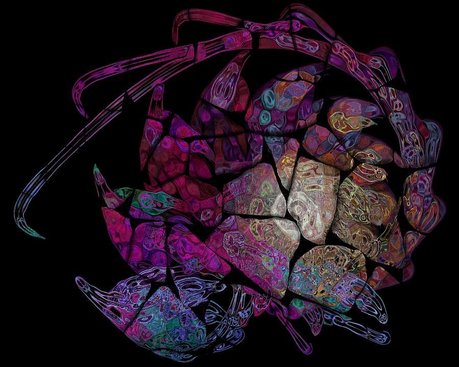 Fractal Digital Art - Crustacean by Amanda Moore
