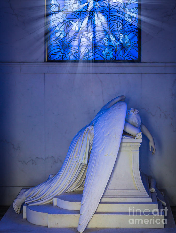 America Photograph - Crying Angel by Inge Johnsson