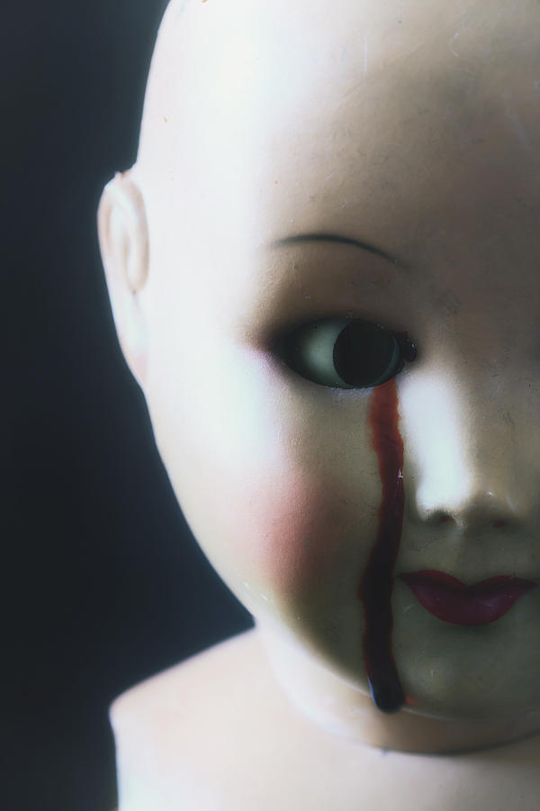 Doll Photograph - Crying Blood by Joana Kruse