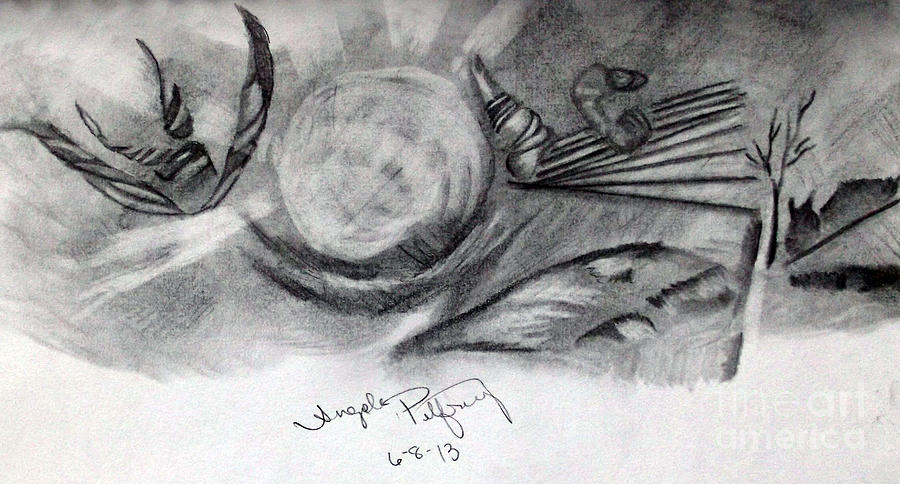 Landscape Drawing - Crystal Ball by Angela Pelfrey