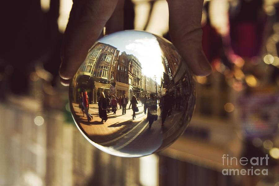 Dublin Photograph - Crystal Ball On Grafton Street Dublin by Catherine MacBride