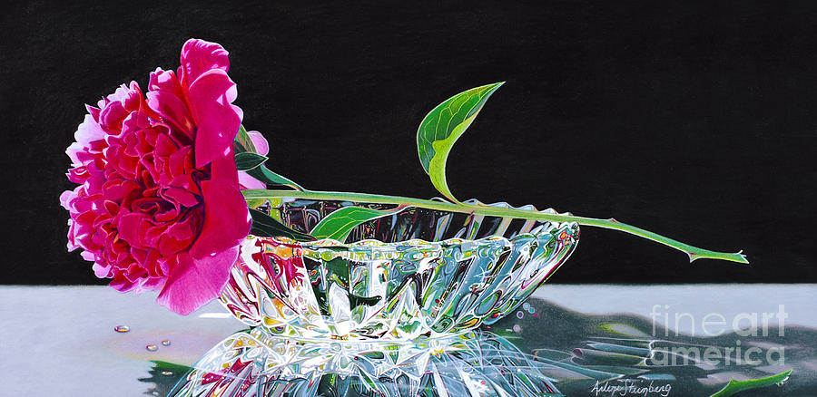 Colored Pencil Painting - Crystal Beauty by Arlene Steinberg