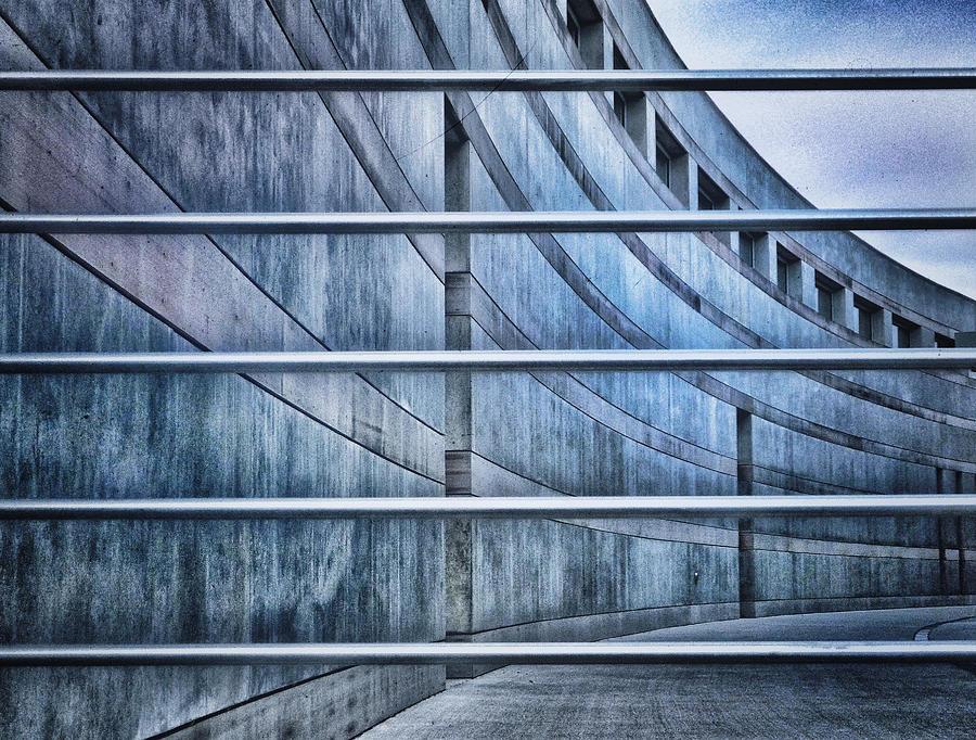 Crystal Bridges Museum Photograph - Crystal Bridges Museum Greytones by Gia Marie Houck